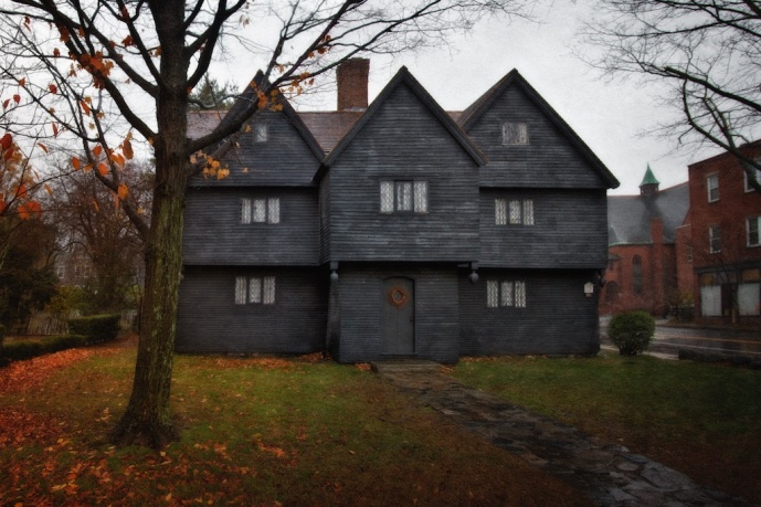 Salem Witch Hunt Artifacts: The Witch House, Home of Jonathan Corwin, c. 1675. Salem, Essex County, Massachusetts